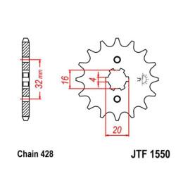 Front Sprocket JT Z-14 1550