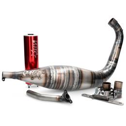 Escape Derbi/AM6 80/90cc silenciador rojo MJC