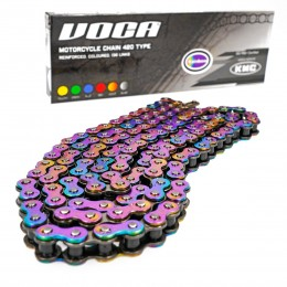 Drive Chain Voca Reinforced by KMC 420 with 136 links Titanium effect