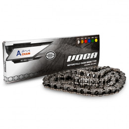 Chain VOCA X-Reinforced 520-118, rivet and clip, chrome